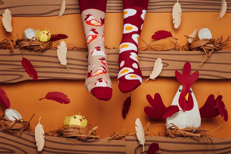 Humorné ponožky Vejce a slepice be1134a8f9