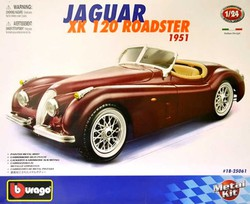 BBURAGO  1:24 Kit Jaguar XK 120 Roadster