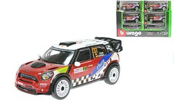 BBURAGO Auto Rally kovové 1:32 MINI WRC Team SORDO kovový model