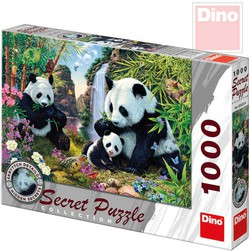 DINO Puzzle Pandy 66x47cm secret collection set 1000 dílků v krabici